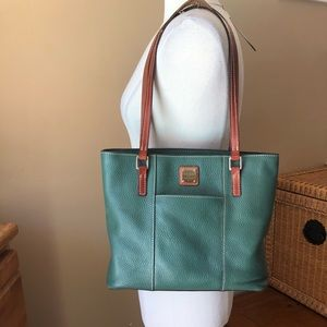 Dooney & Bourke Green Leather Tote Bag
